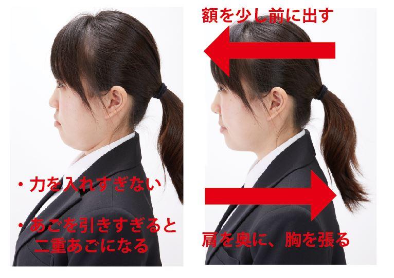 証明写真のあごと額の位置